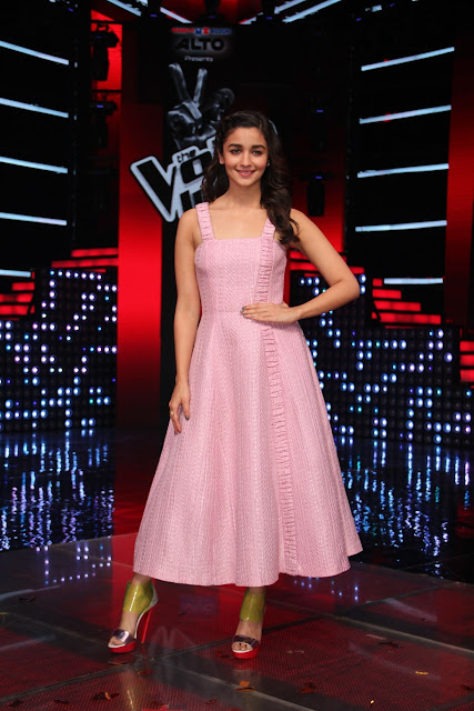 Alia Bhatt on the sets of &TV's The Voice India Season 2