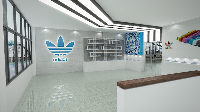 The One with Adidas Shoe Factory Office Interior artsitektur When Art and Function Meets