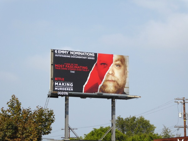 Making a Murderer 2016 Emmy nominations billboard