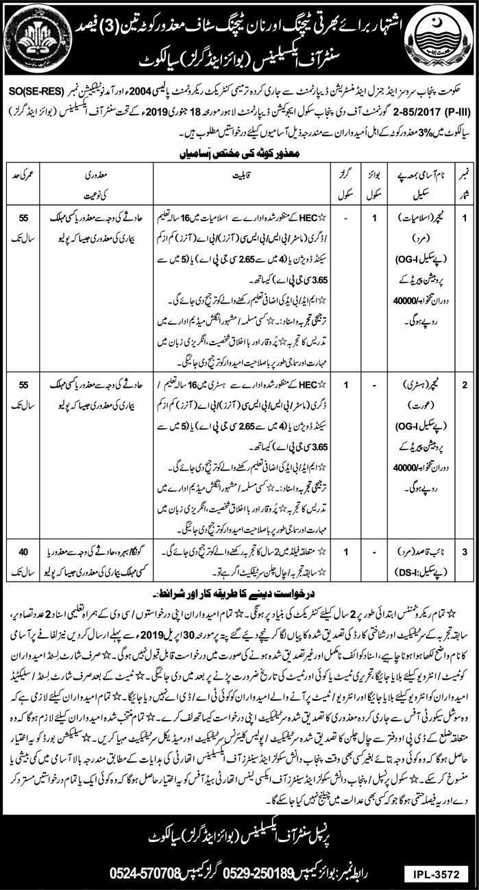 Center Of Excellence Jobs in Sialkot