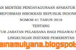 Permenpan RB No 41 [Tahun] 2018 (Tentang) Nomenklatur Jabatan PELAKSANA bagi PNS di LINGKUNGAN INSTANSI PEMERINTAH