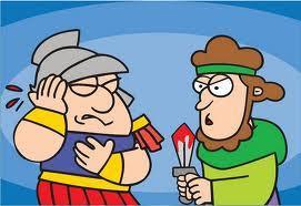 Jésus guérit l'oreille coupée  du centurion au Mont des Oliviers