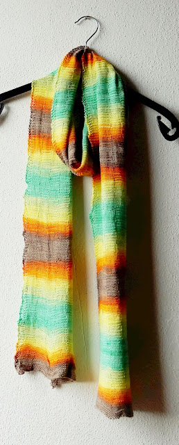 A scarf in the colors of the sunset