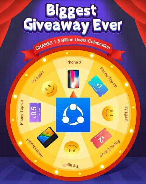 Diartikel keseratus lima ini, Saya akan memberikan Tutorial Cara bermain di aplikasi SHAREit hingga mendapatkan hadiah berupa Smartphone keren dan Dollar berupa Pulsa senilai $0,5 - $2.