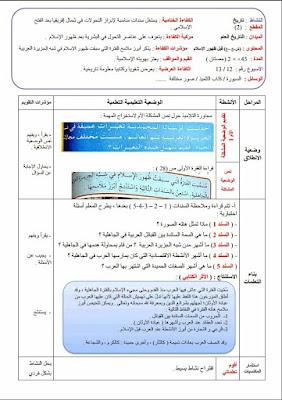 جميع مذكرات الأسبوع 12 للمواد التربية الإسلامية،التربية العلمية،التربية الفنية،التاريخ و الجغرافيا،الرياضيات السنة الرابعة إبتدائي الجيل الثاني