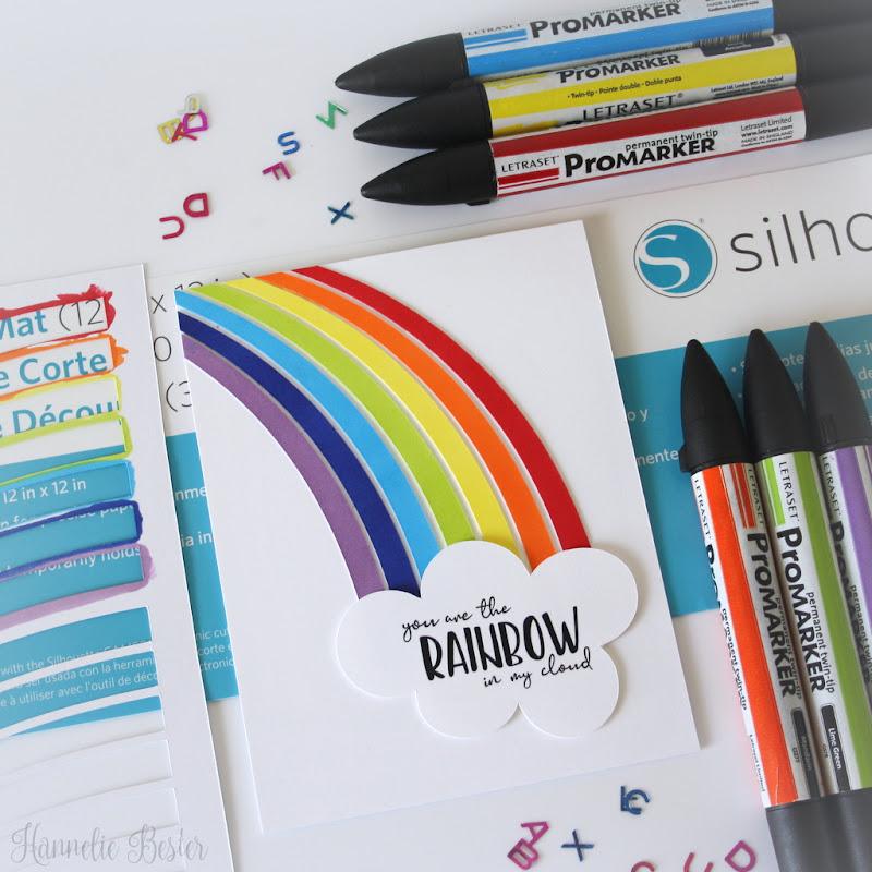 Clean and simple rainbow card