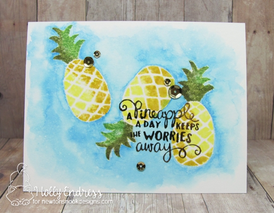 Pineapple Card by Holly Endress | Pineapple Delight Stamp set by Newton's Nook Designs #newtonsnook