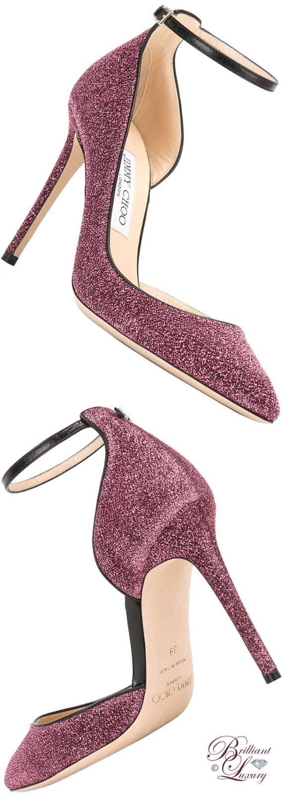 Brilliant Luxury ♦ Jimmy Choo Glitter Pumps