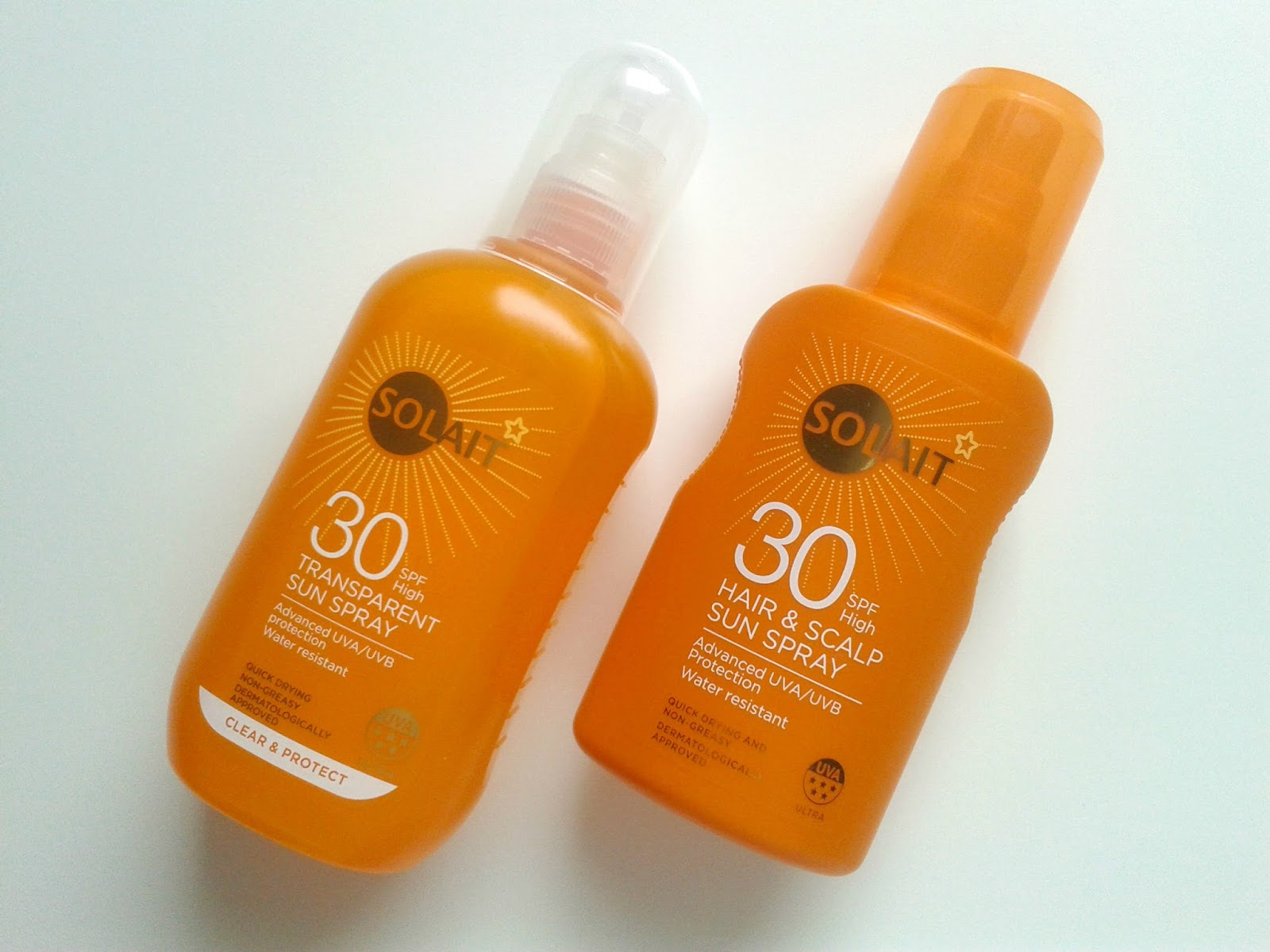 Superdrug Solait Hair & Scalp Sun Spray SPF 30 Superdrug Solait Wet Skin SPF 30 Beauty Review