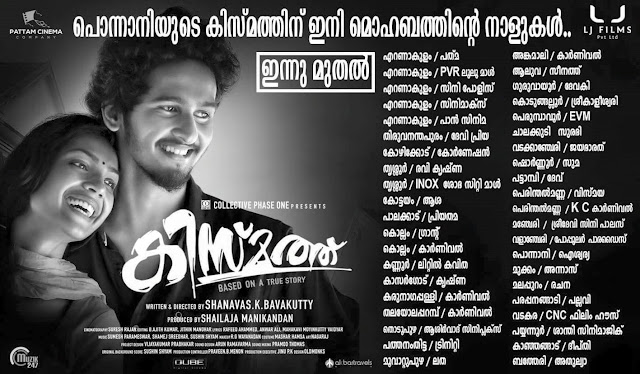 Kismath Malayalam Movie Releasing Centers Theaters