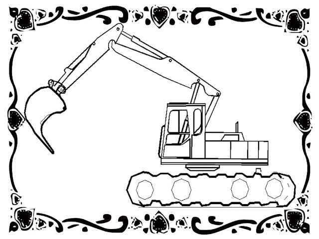 Free Construction Vehicles Coloring Pages