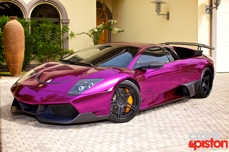 looks like a car lamborghini murcielago adv 1 670 sv chrome purple photos. Black Bedroom Furniture Sets. Home Design Ideas