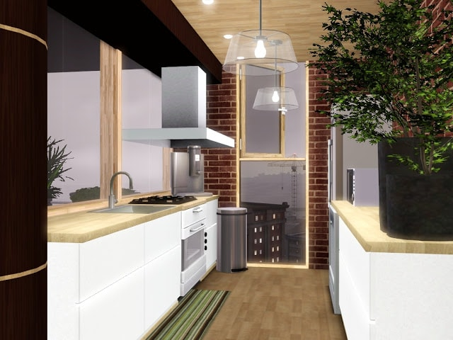cuisine moderne Sims 3
