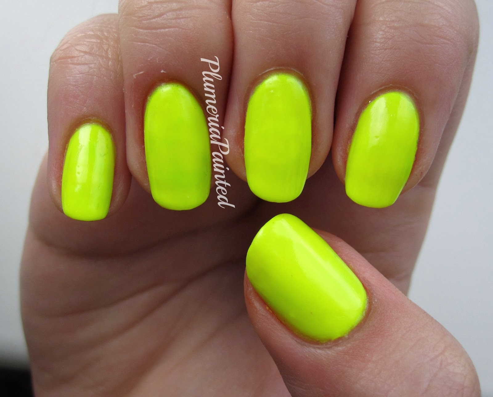 PlumeriaPainted: Yellow Nails: American Apparel - Neon Yellow