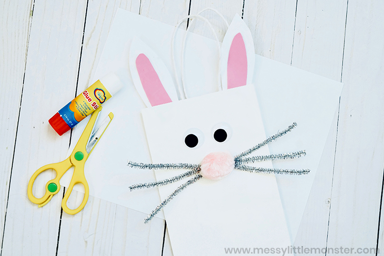Bunny paper bag craft for kids