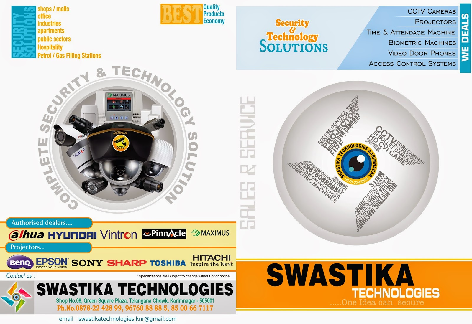 security company brochure template - swastika technologies visting card brochure naveengfx