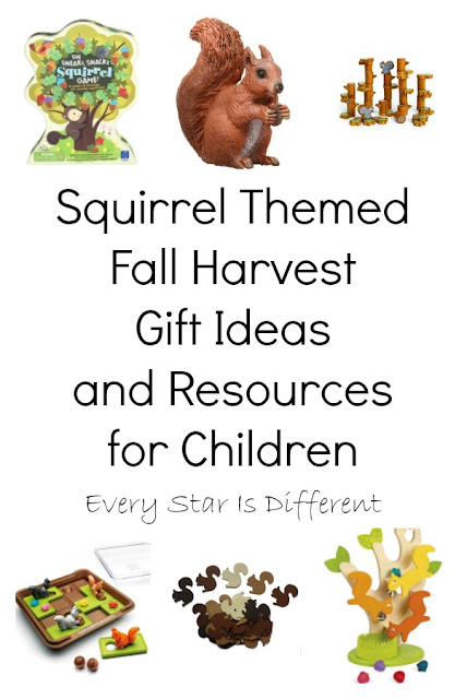 Squirrel Themed Fall Harvest Gift Ideas and Resources for Children