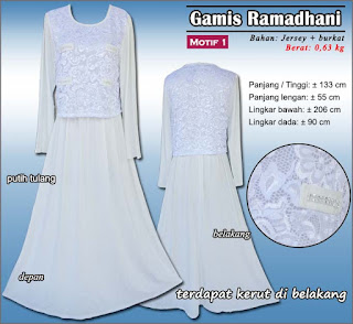 gamis gaun berbahan jersey kombinasi burkat - ramadhani 1