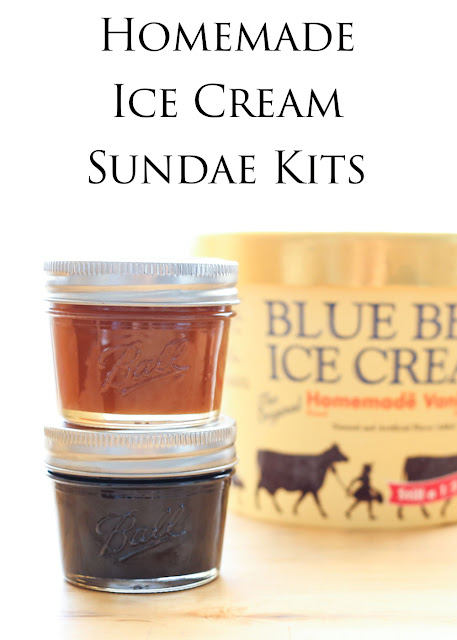 Homemade Ice Cream Sundae Kits are great holiday and hostess gifts for any occasion!