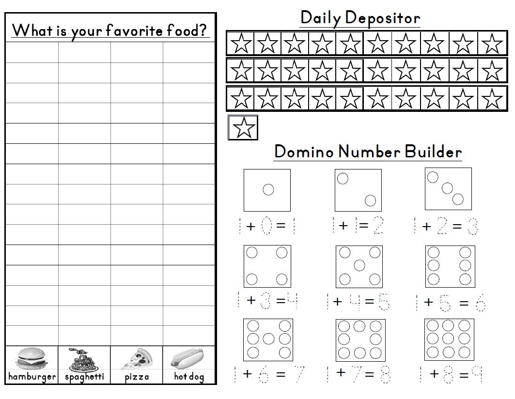 Aloha Kindergarten Calendar Math Journals