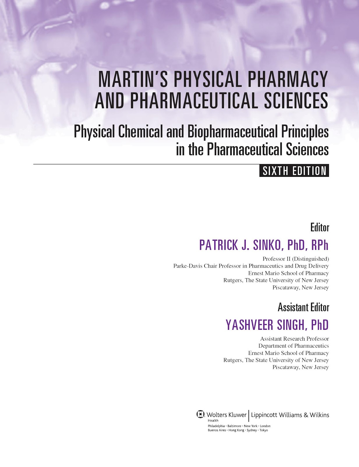 martins physical pharmacy 6th edition pdf free download