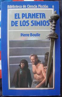 Portada del libro El planeta de los simios, de Pierre Boulle