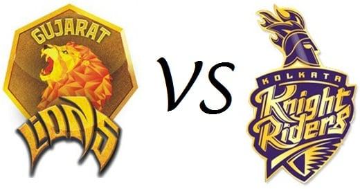 Gujarat Lions vs KKR T20 Match Live score