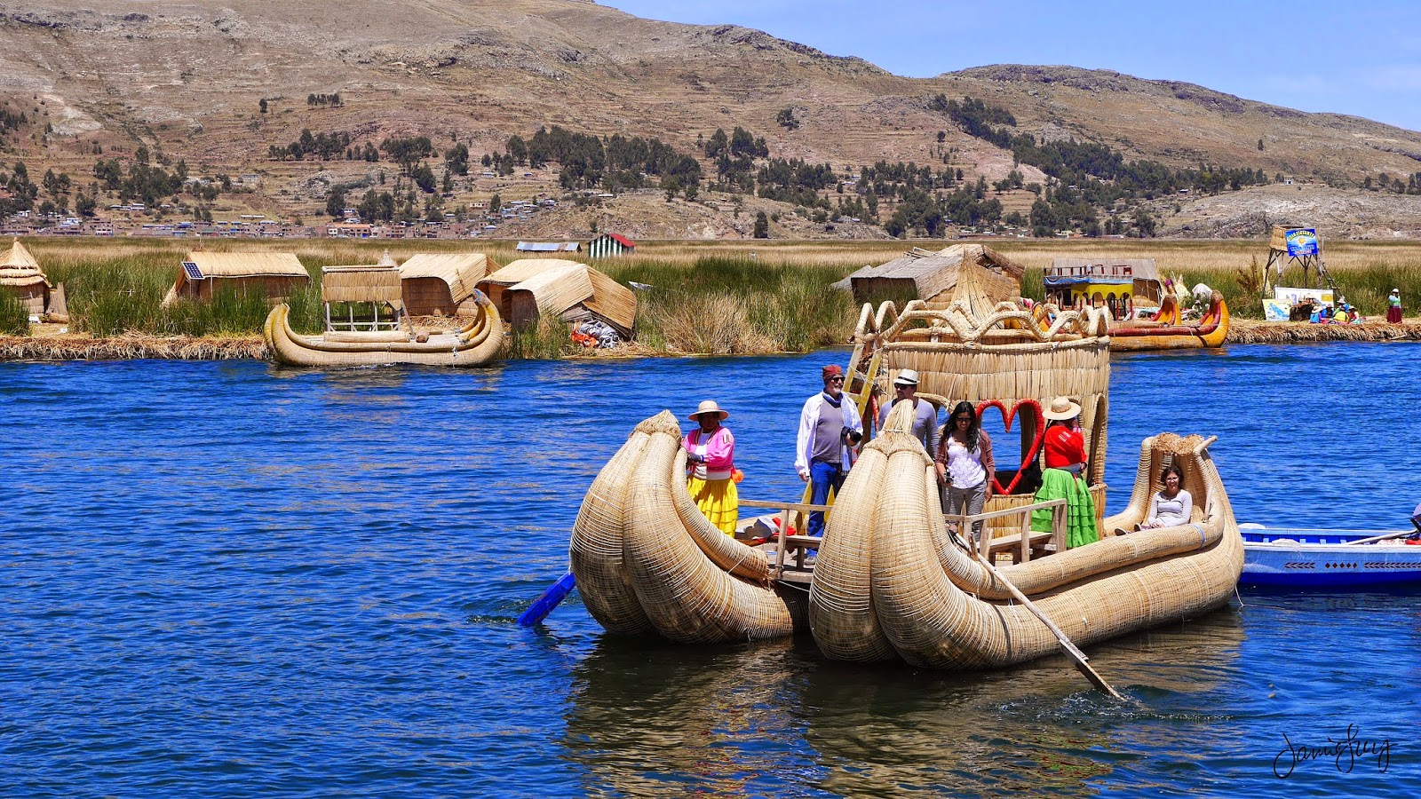 Floating Island of Uros, Lake Titicaca, Peru