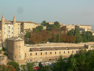 Urbino's magnificent Ducal Palace is the focal point of the city in the Marche region