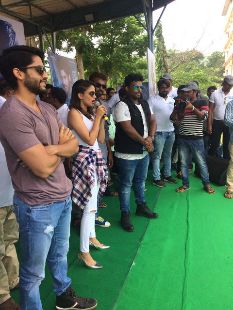 Naga Chaitanya & Lavanya Tripathi Photos at CEC, Vizag