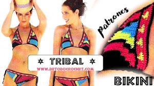 Bikini con Diseño Tribal / Patrones