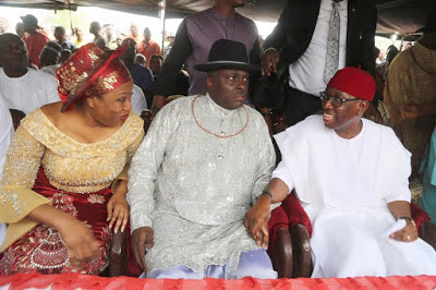 Back to reigning ways: Ibori spotted with Okowa at a function