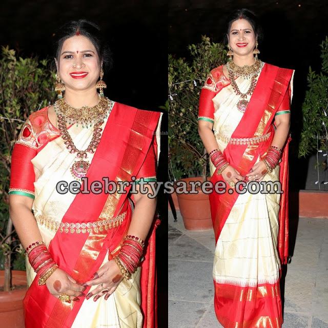 Deepthi Mamidi Bridal Saree