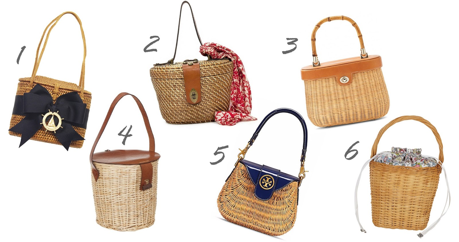 Wicker basket bags and rattan basket handbags