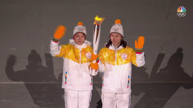 PyeongChang 2018 Winter Olympics Opening Ceremony torch North South Koreans Park Jong-Ah