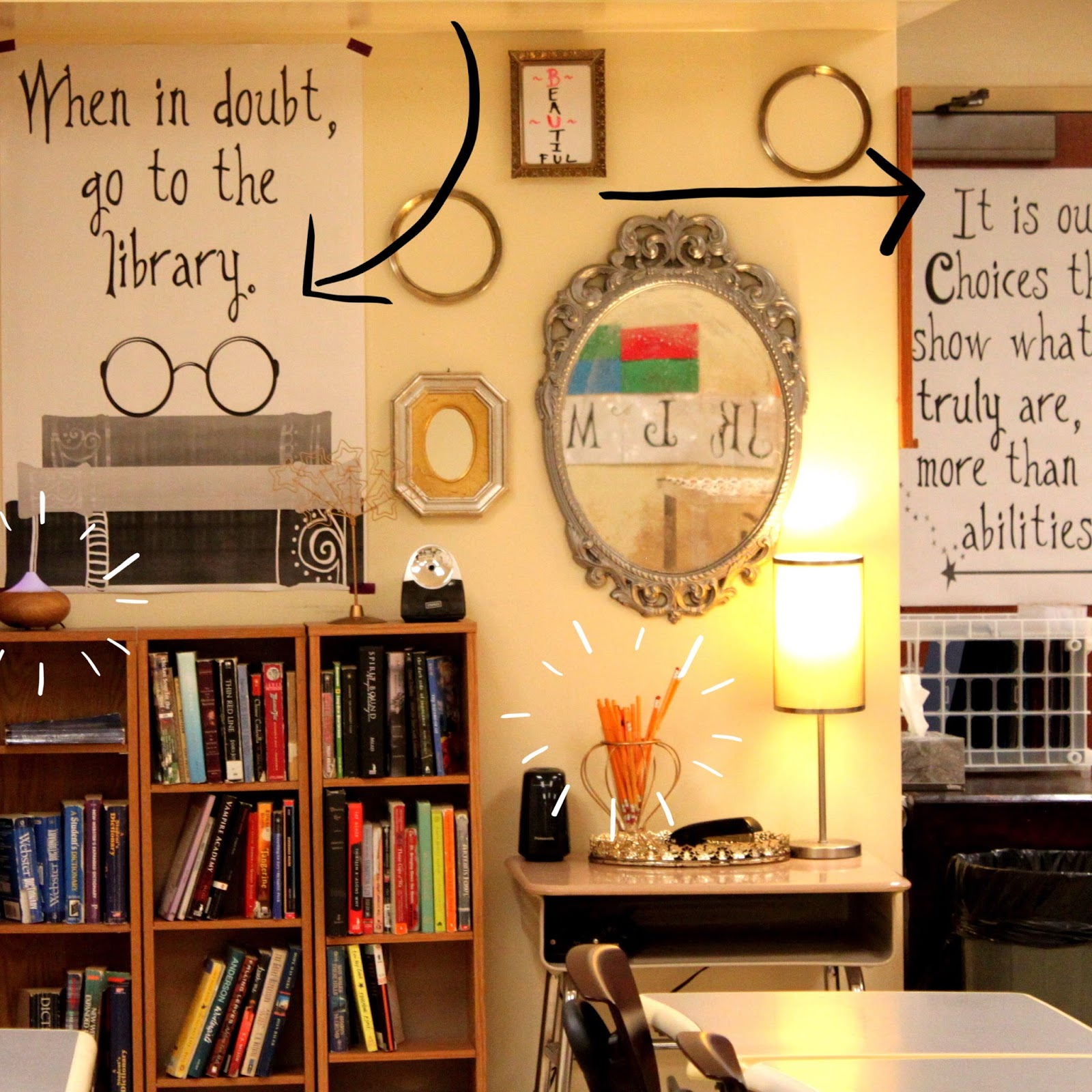 Art Decoration Ideas For Classroom ~ B s book love harry potter ish themed classroom