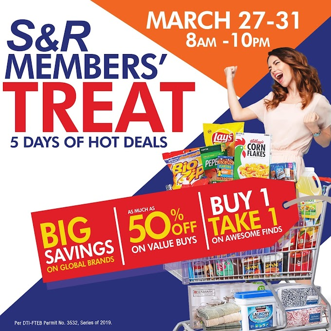 SNR Member's Treat from March 27th until March 31st, 2019