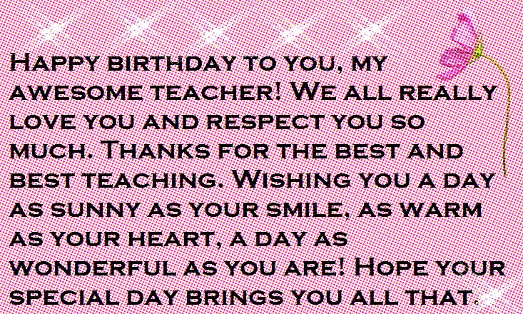 Teacher Happy Birthday Wishes and Quotes Happy Birthday Wishes