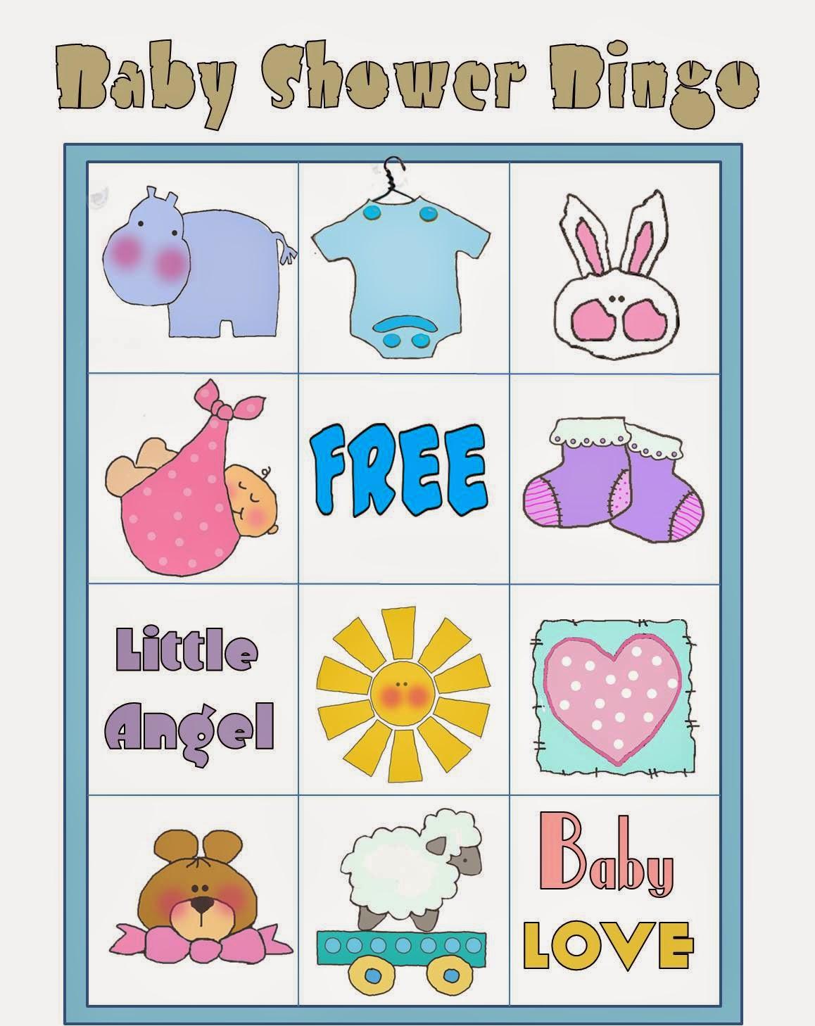 Free Printable Baby Shower Bingo In Colors