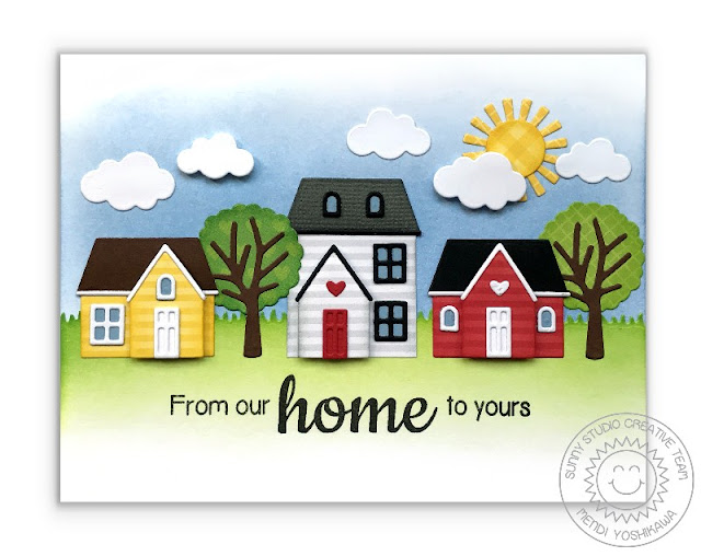 Sunny Studio Stamps: From Our Home To Yours House Card featuring Comic Strip Everyday Dies