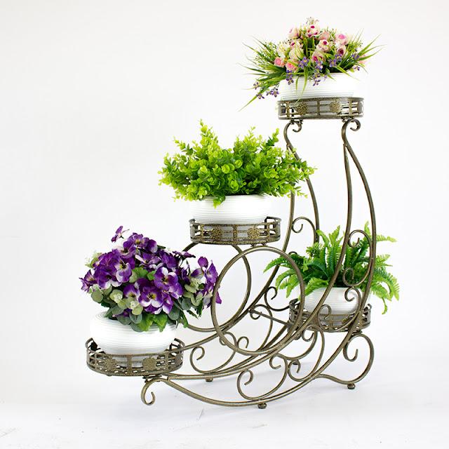 Giá sắt đỡ cây cảnh, chậu hoa nhiều tầng