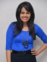 Nanditha Swetha Blue Dress Stills-cover-photo