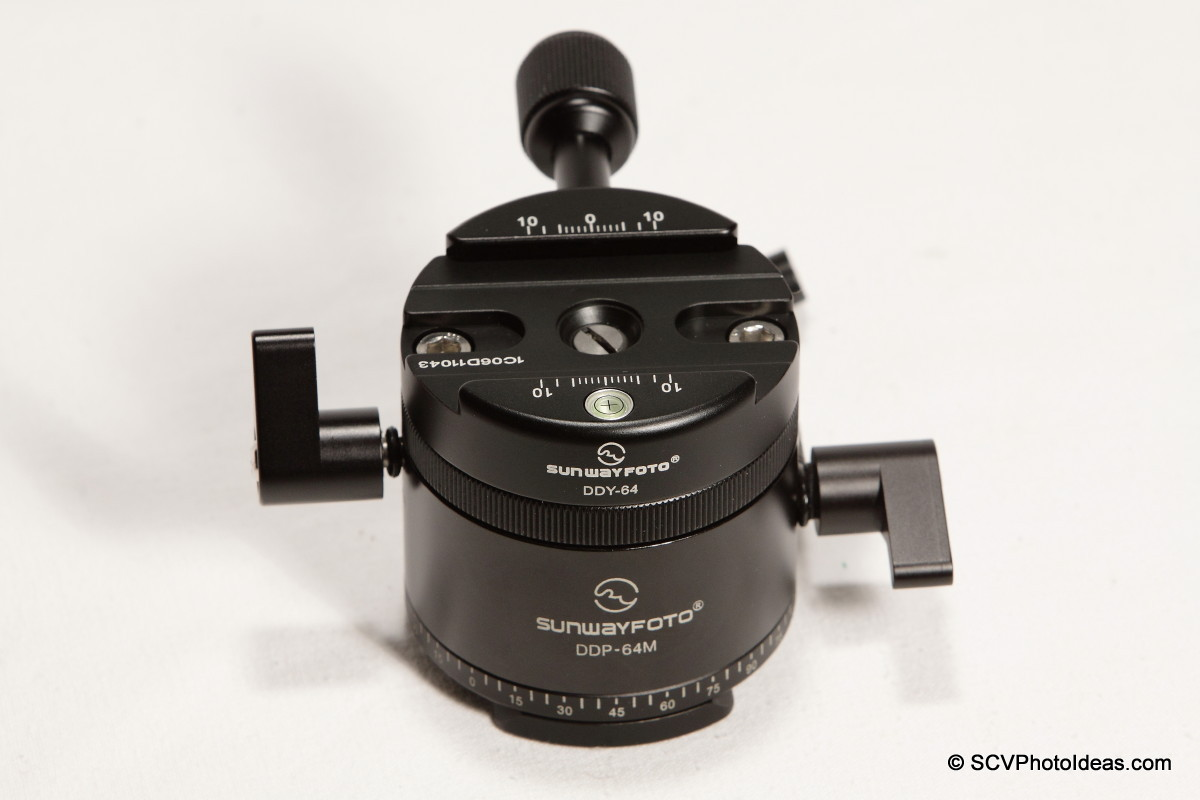 Sunwayfoto DDP-64MX+DDY-64 front-top view