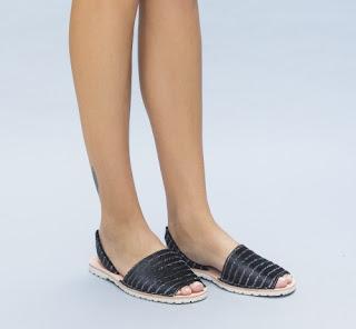 sandale de vara negre fara toc ieftine