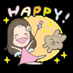 happy angel sticker
