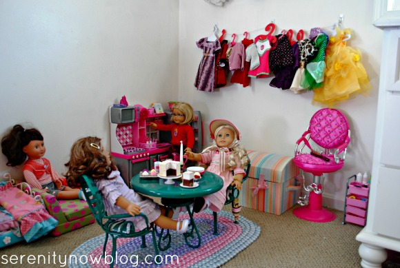 Storing & Displaying American Girl Doll Clothes, from Serenity Now