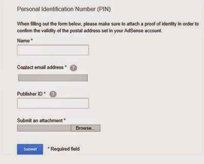 Google-Adsense-PIN-Form