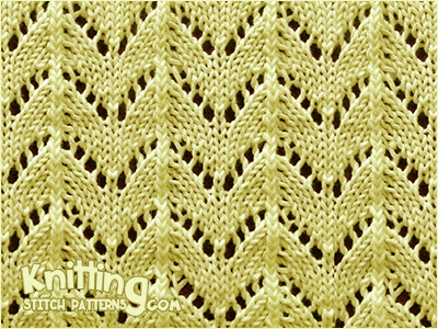 Horseshoe Lace Stitch Pattern