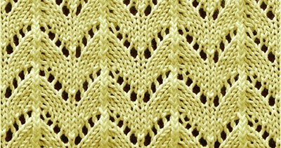 Knitting Horseshoe Lace Stitch Pattern : Horseshoe Knitting Stitch Patterns