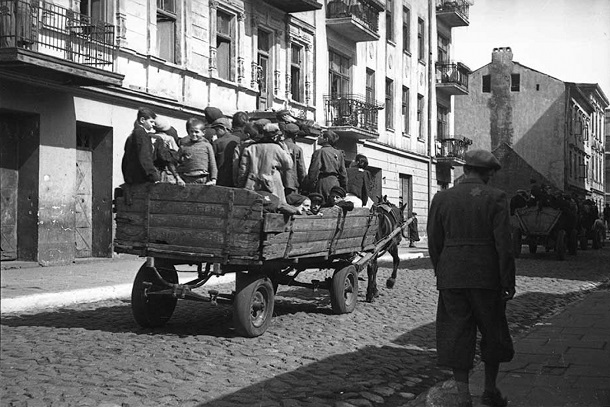 Henryk Ross, Chidren being Transported to Chelmno Nad Nerem - Renamed Kulmhof - Death Camp - 1942